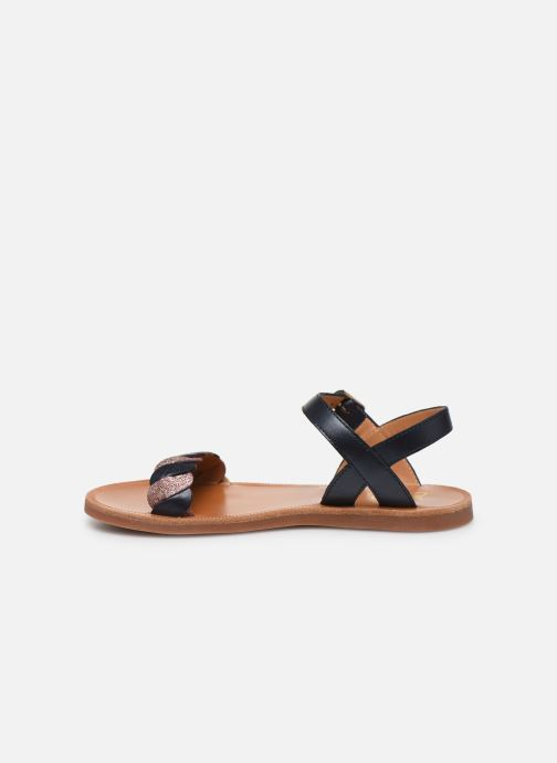 Sandales et nu-pieds Pom d Api Plagette Twist Bleu vue face