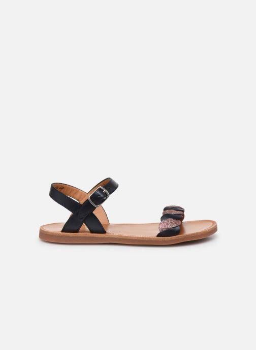 Sandales et nu-pieds Pom d Api Plagette Twist Bleu vue derrière