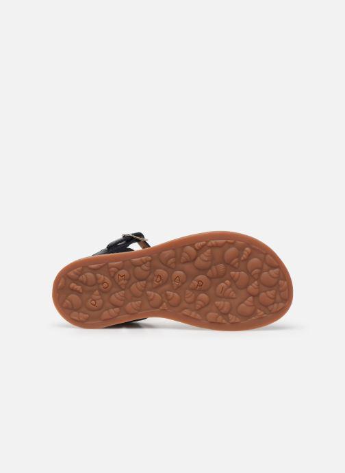 Sandales et nu-pieds Pom d Api Plagette Twist Bleu vue haut