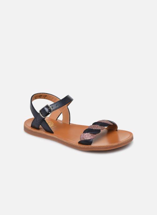 Sandales et nu-pieds Pom d Api Plagette Twist Bleu vue détail/paire