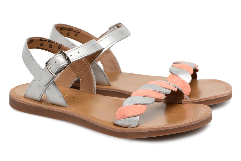 Sandales et nu-pieds Pom d Api Plagette Twist Argent vue 3/4
