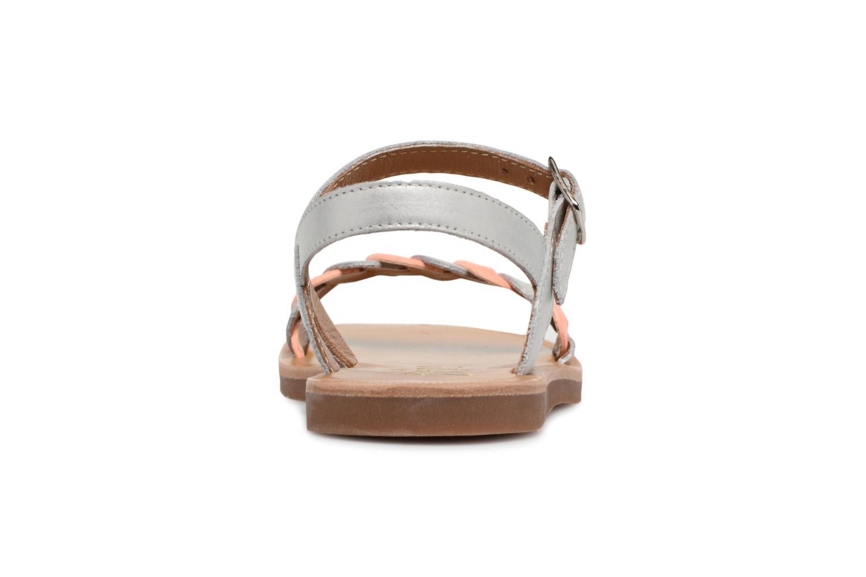 Sandales et nu-pieds Pom d Api Plagette Twist Argent vue droite