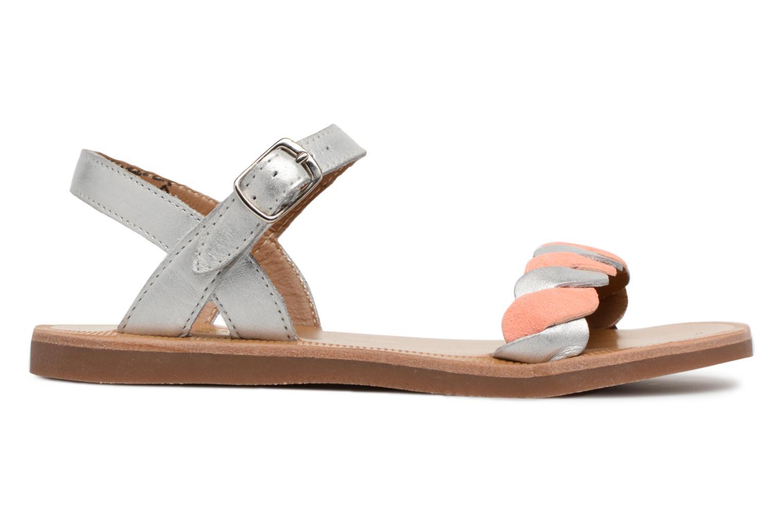 Sandales et nu-pieds Pom d Api Plagette Twist Argent vue derrière