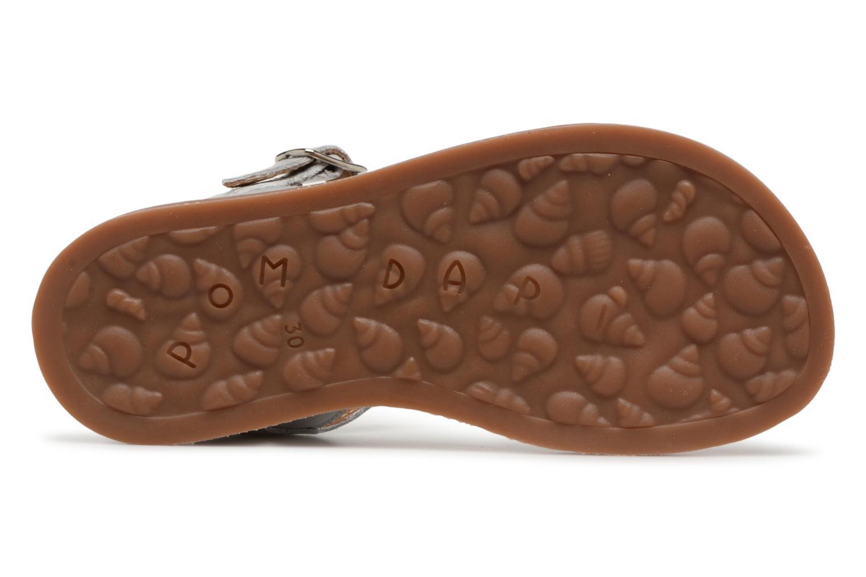 Sandales et nu-pieds Pom d Api Plagette Twist Argent vue haut