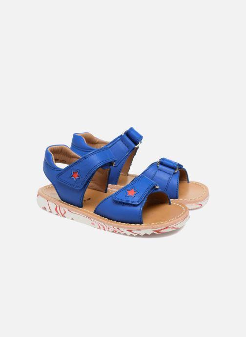 Sandales et nu-pieds Pom d Api Waff Kastro Bleu vue 3/4