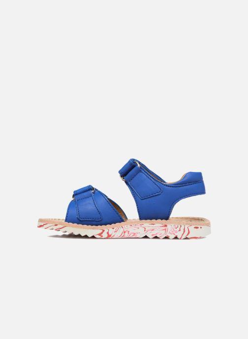 Sandales et nu-pieds Pom d Api Waff Kastro Bleu vue face