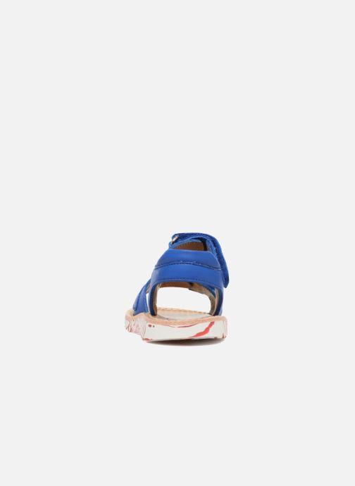 Sandales et nu-pieds Pom d Api Waff Kastro Bleu vue droite