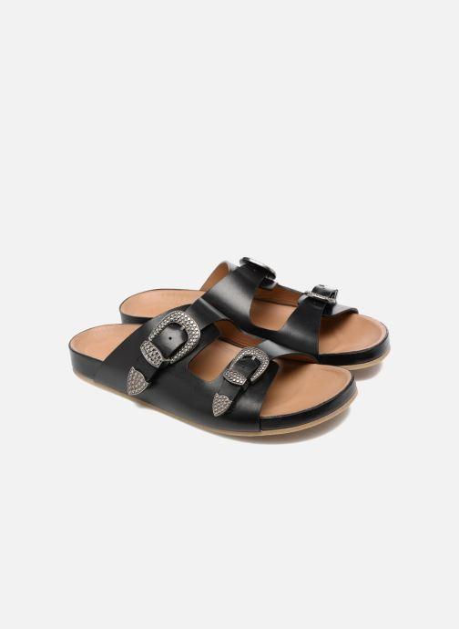 Sandales et nu-pieds Sonia Rykiel Flat Rykiel Buckle Noir vue 3/4