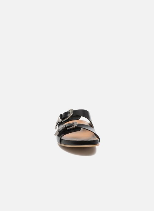 Sandali e scarpe aperte Sonia Rykiel Flat Rykiel Buckle Nero modello indossato