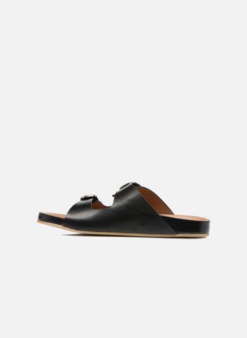 Sandali e scarpe aperte Sonia Rykiel Flat Rykiel Buckle Nero immagine frontale