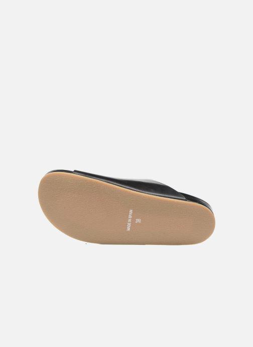 Sandales et nu-pieds Sonia Rykiel Flat Rykiel Buckle Noir vue haut
