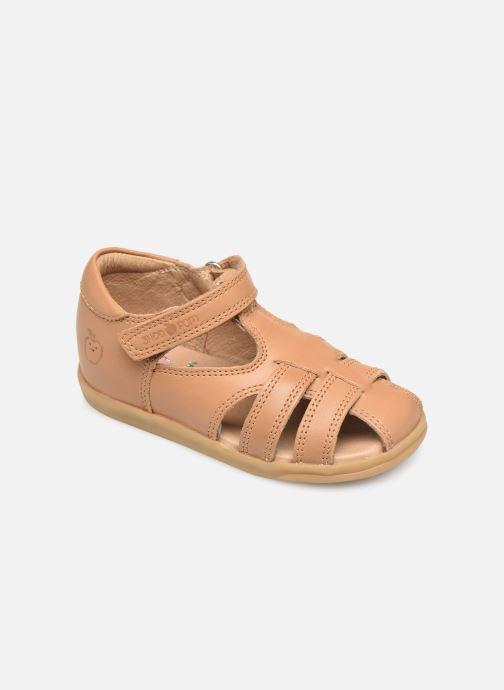 Sandales et nu-pieds Shoo Pom Pika Be Boy Marron vue détail/paire