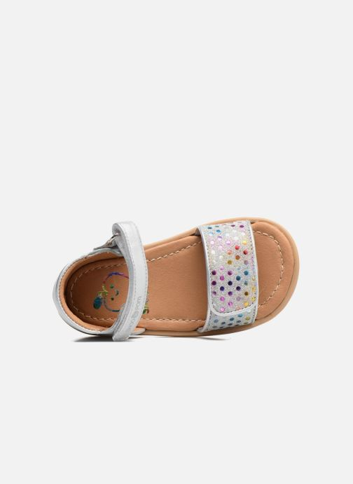 Sandals Shoo Pom Tity Scratch Silver view from the left