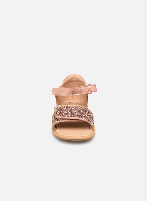 Sandalen Shoo Pom Tity Scratch silber schuhe getragen