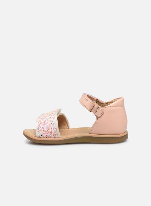 Sandales et nu-pieds Shoo Pom Tity Scratch Rose vue face
