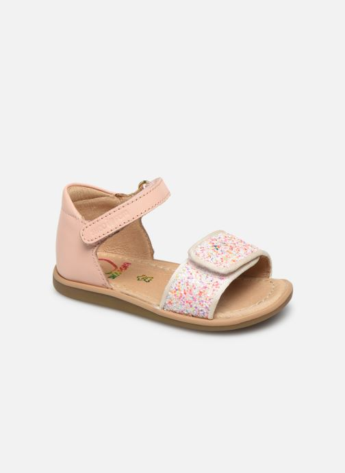 Sandales et nu-pieds Shoo Pom Tity Scratch Rose vue détail/paire