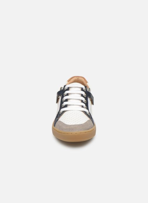 Baskets Shoo Pom Play Lo Bi zip Blanc vue portées chaussures