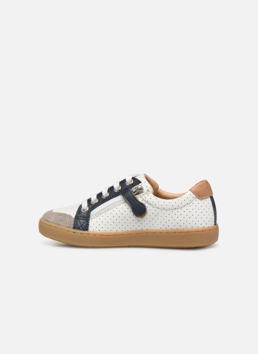 Sneaker Shoo Pom Play Lo Bi zip weiß ansicht von vorne