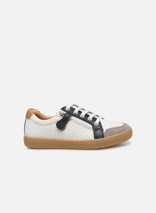 Sneaker Shoo Pom Play Lo Bi zip weiß ansicht von hinten