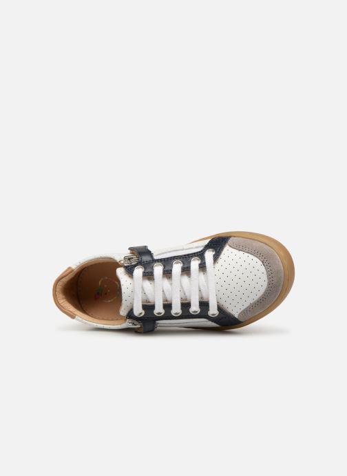Sneaker Shoo Pom Play Lo Bi zip weiß ansicht von links