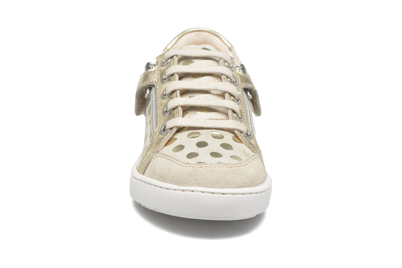 Baskets Shoo Pom Play Lo Bi zip Or et bronze vue portées chaussures