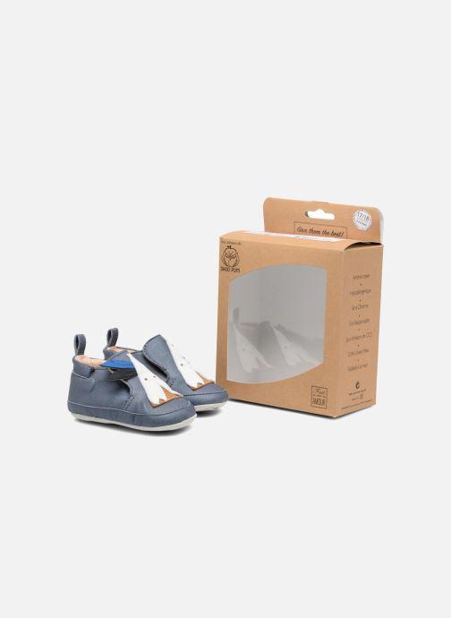 Slippers Shoo Pom Chou Tipi Blue 3/4 view