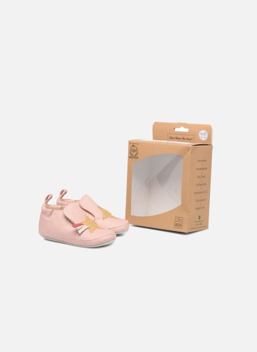Slippers Shoo Pom chou Star Pink 3/4 view