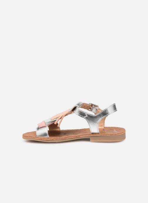 Sandales et nu-pieds Shoo Pom Happy Fringe Argent vue face