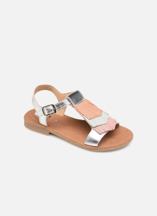 Sandales et nu-pieds Shoo Pom Happy Fringe Argent vue détail/paire