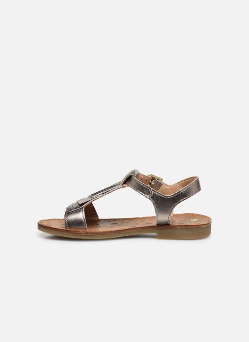 Sandales et nu-pieds Shoo Pom Happy Fringe Or et bronze vue face