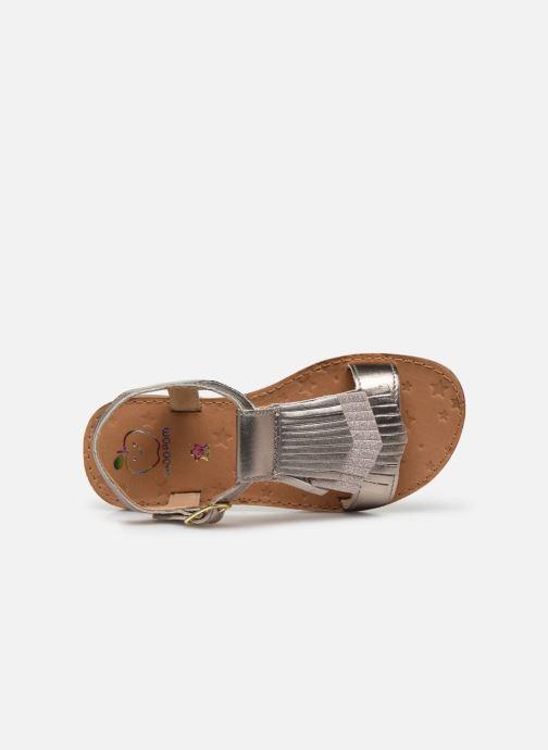 Sandali e scarpe aperte Shoo Pom Happy Fringe Oro e bronzo immagine sinistra