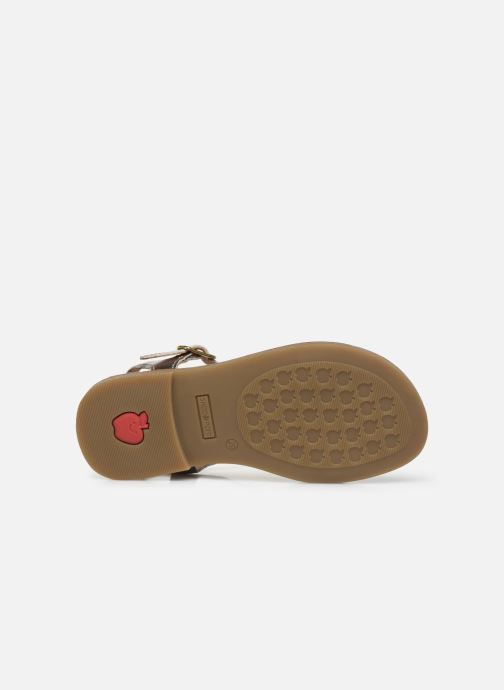 Sandales et nu-pieds Shoo Pom Happy Fringe Or et bronze vue haut