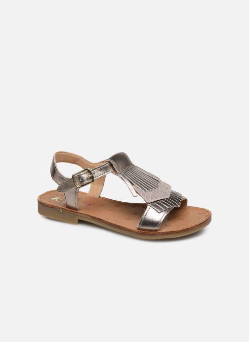 Sandales et nu-pieds Shoo Pom Happy Fringe Or et bronze vue détail/paire