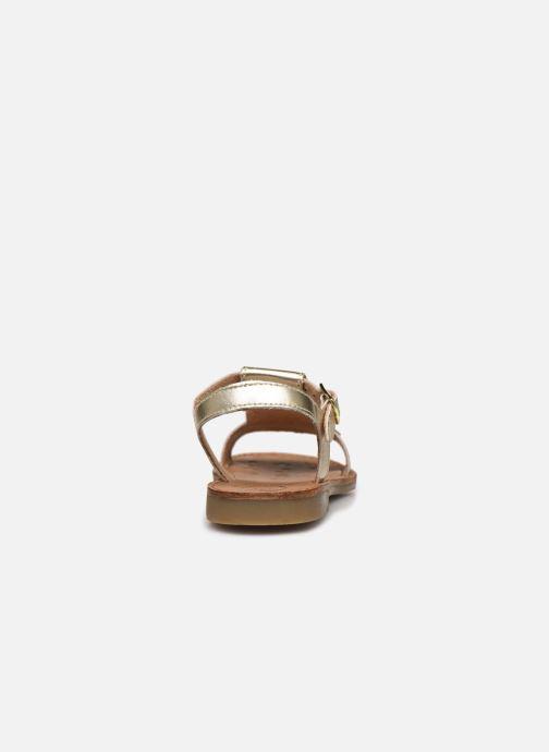 Sandalen Shoo Pom Happy Fringe gold/bronze ansicht von rechts