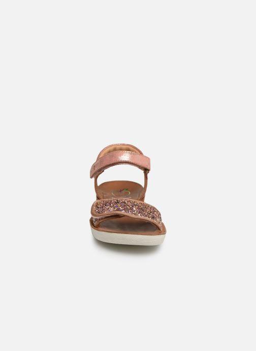 Sandali e scarpe aperte Shoo Pom Goa Scratch Piping Argento modello indossato