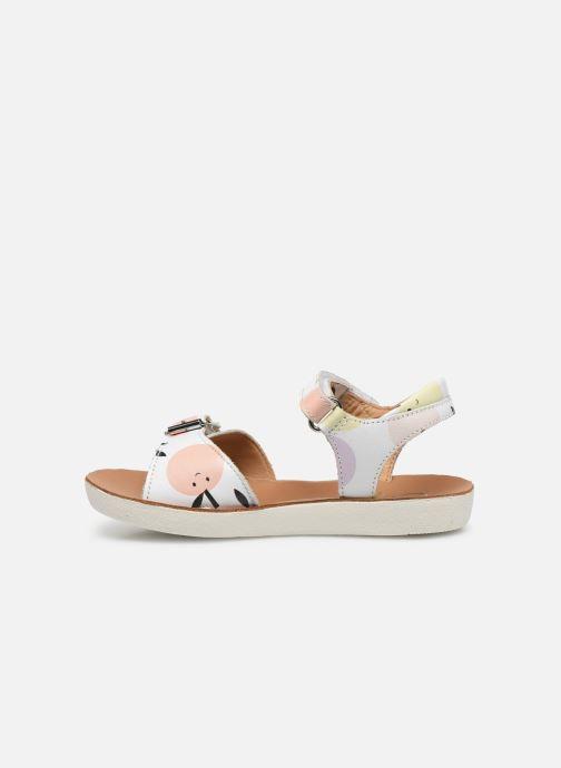Sandali e scarpe aperte Shoo Pom Goa Sandal Girl Bianco immagine frontale