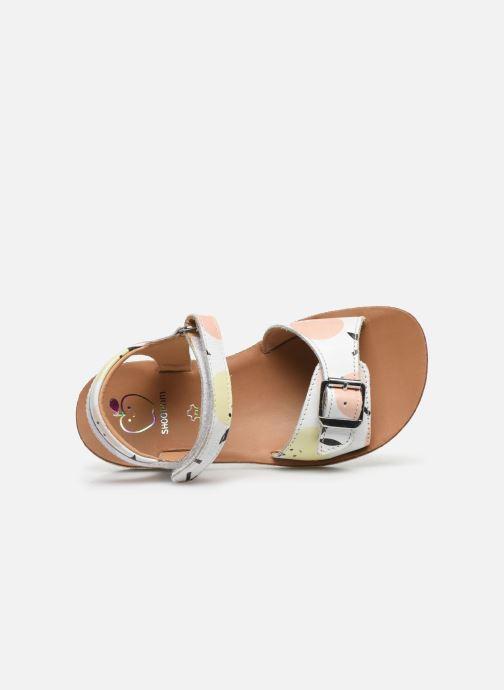 Sandali e scarpe aperte Shoo Pom Goa Sandal Girl Bianco immagine sinistra