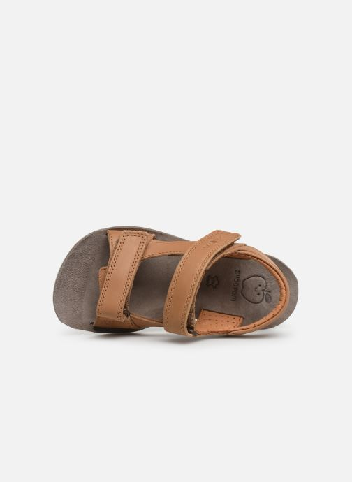 Sandals Shoo Pom Goa Boy Scratch Brown view from the left