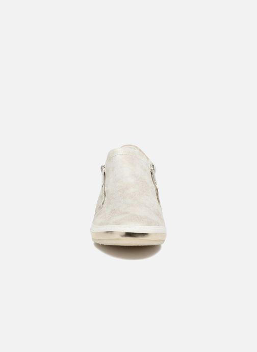 Baskets Khrio Slip-on Argent vue portées chaussures