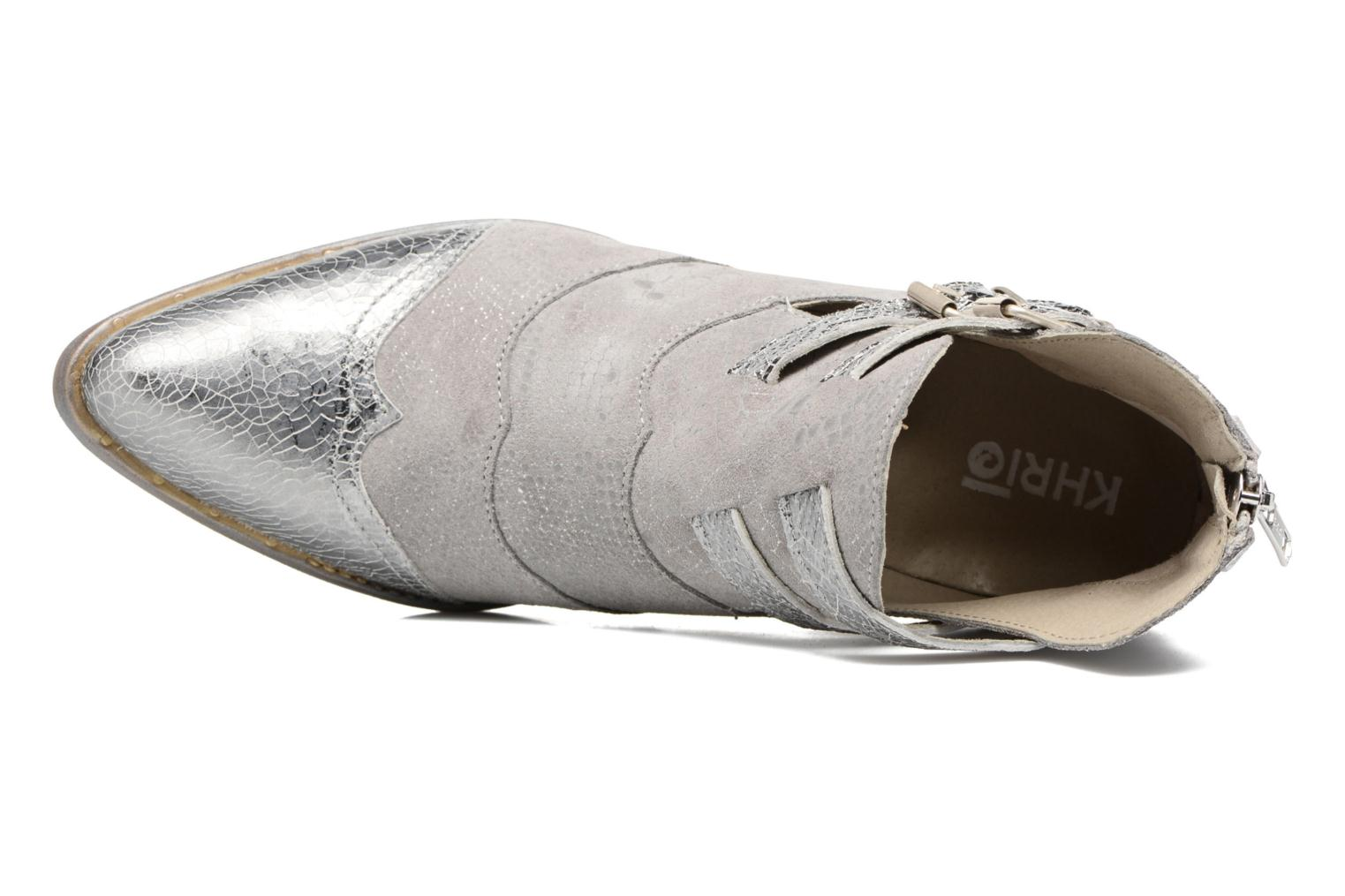 Ankle boots Khrio Gaia Silver view from the left