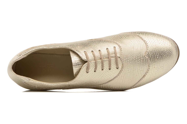 Zapatos con cordones Khrio Aitana Oro y bronce vista lateral izquierda