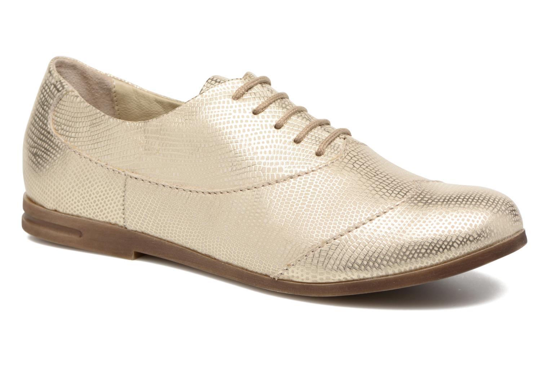 Zapatos con cordones Khrio Aitana Oro y bronce vista de detalle / par