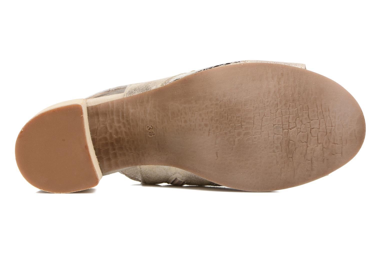 Sandales et nu-pieds Khrio Aurea Beige vue haut