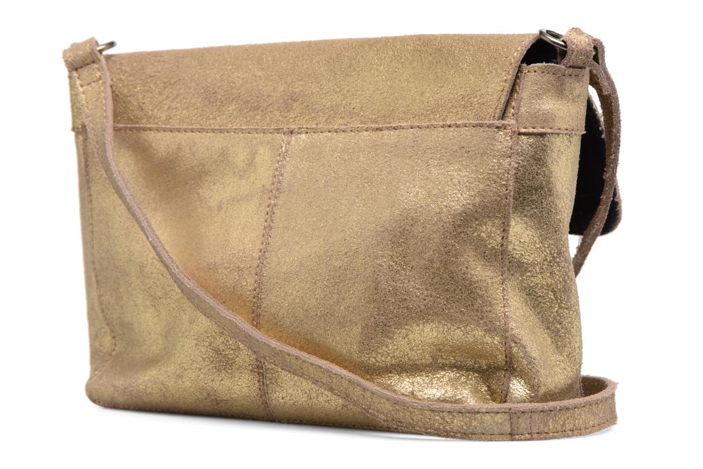 Borse Pieces Musta Leather Crossover bag Oro e bronzo immagine destra