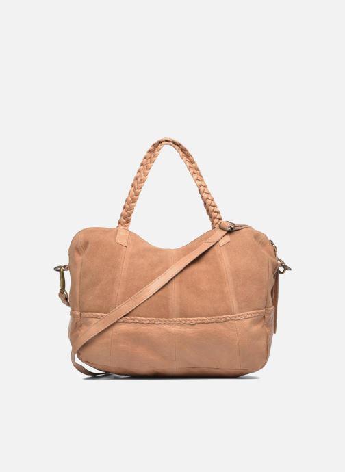Handtassen Pieces Cameo Leather bag Beige voorkant