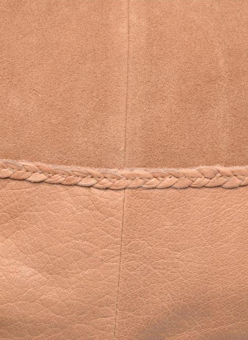 Handtaschen Pieces Cameo Leather bag beige ansicht von links