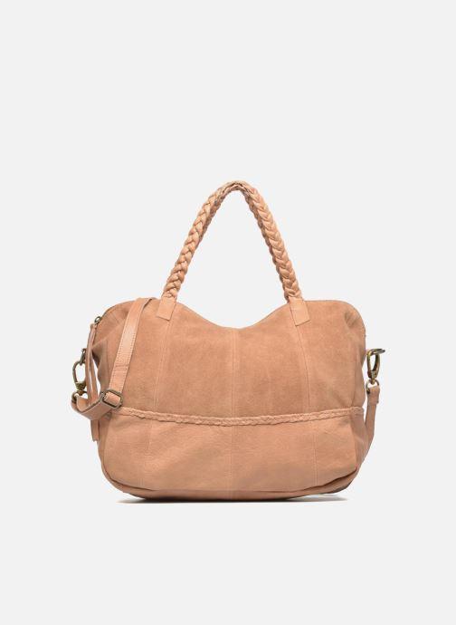 Handtaschen Pieces Cameo Leather bag beige detaillierte ansicht/modell