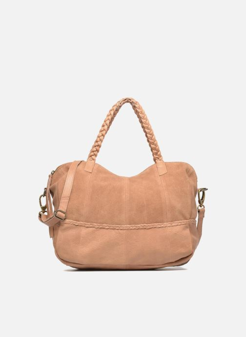 Handtassen Pieces Cameo Leather bag Beige detail
