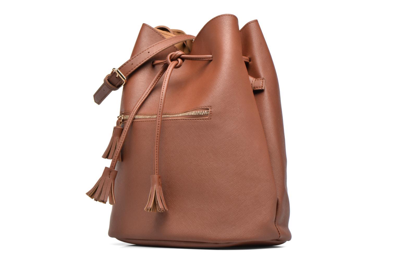 Bolsos de mano Pieces Lellis Tighten bag Marrón vista del modelo