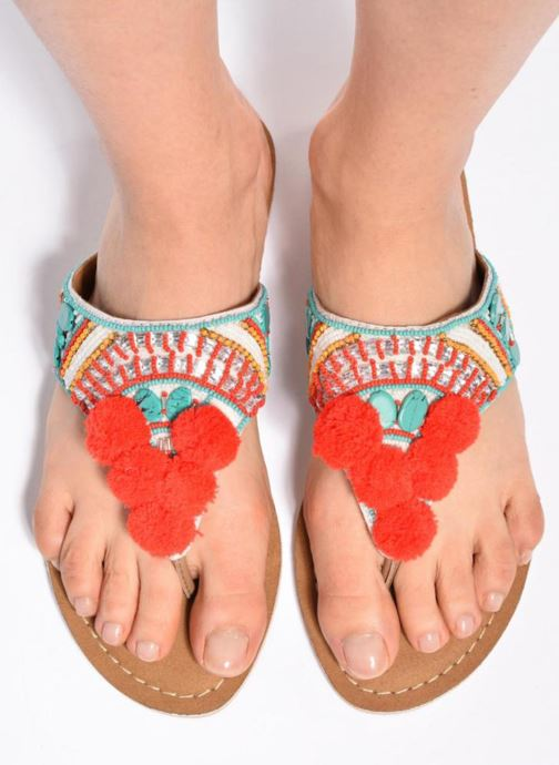 Sandales et nu-pieds Buffalo Josy Multicolore vue bas / vue portée sac